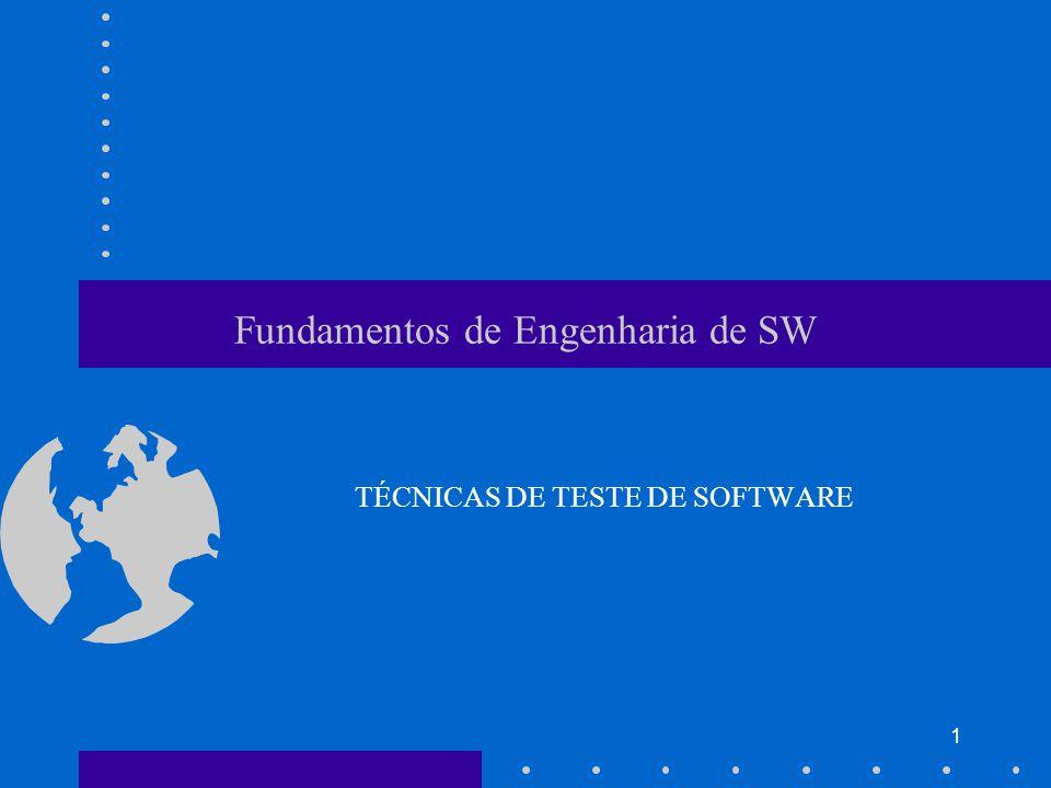 1 Fundamentos de Engenharia de SW TÉCNICAS DE TESTE DE SOFTWARE