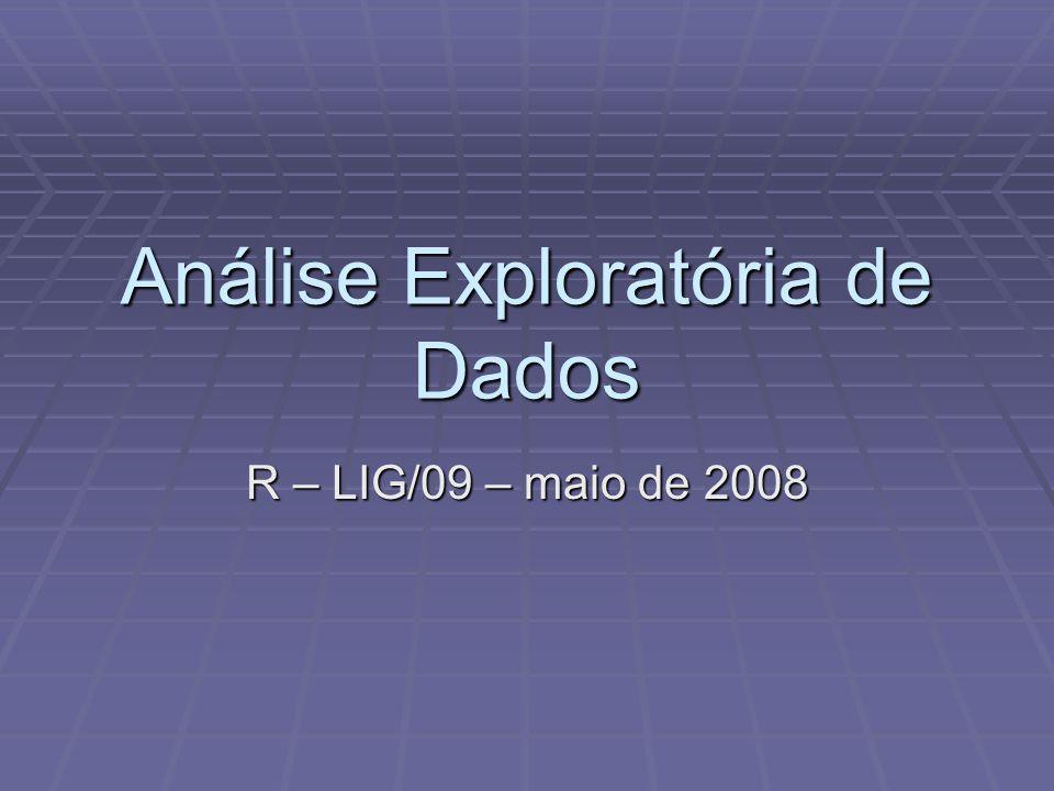 Análise Exploratória de Dados R – LIG/09 – maio de 2008