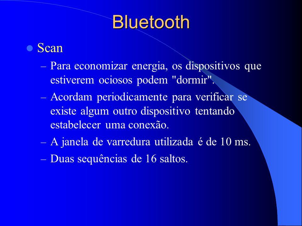 Bluetooth Scan – Para economizar energia, os dispositivos que estiverem ociosos podem