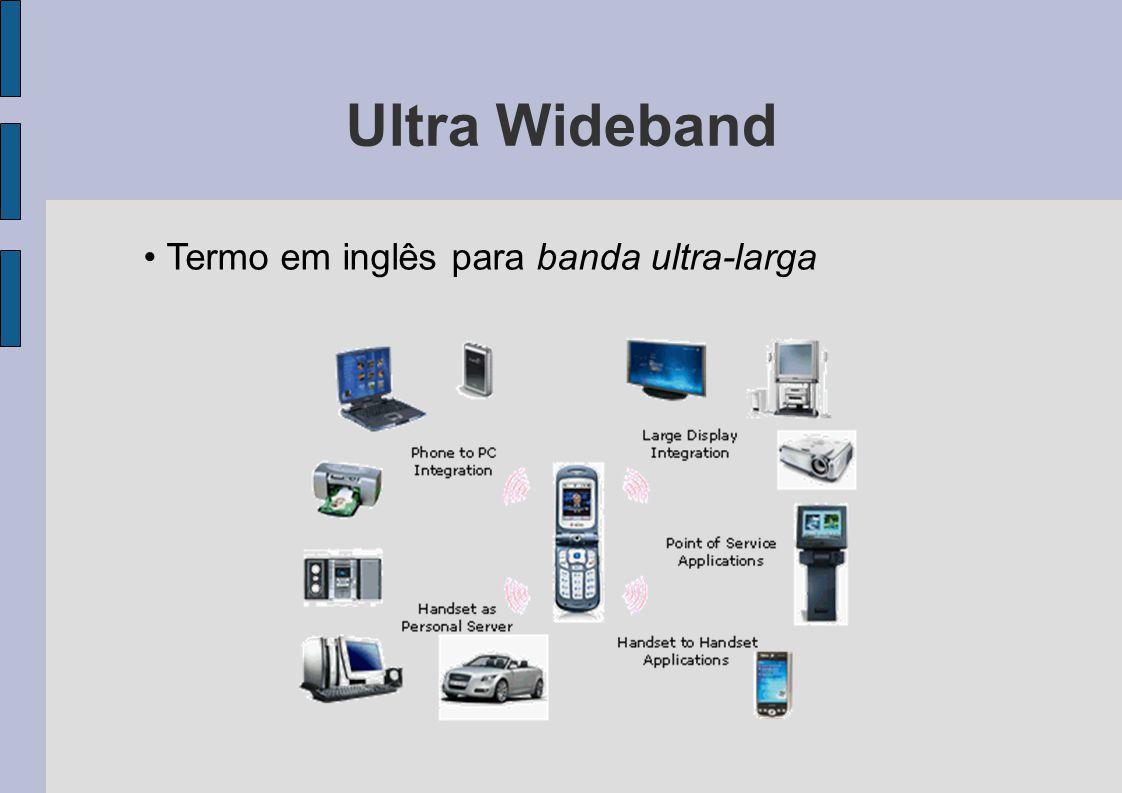 Ultra Wideband Termo em inglês para banda ultra-larga