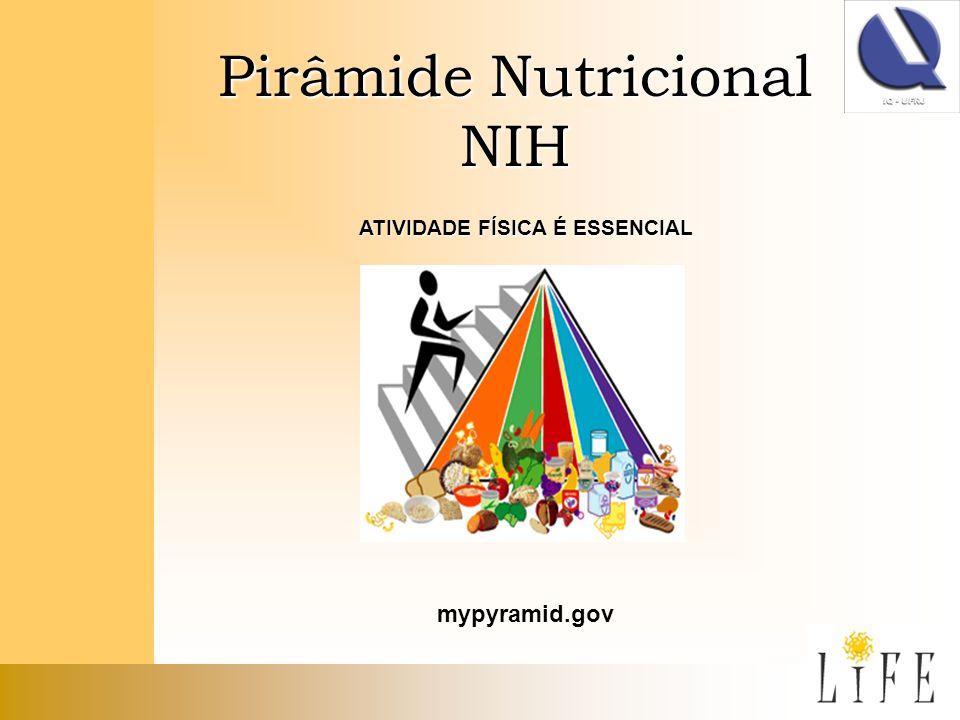 Pirâmide Nutricional NIH ATIVIDADE FÍSICA É ESSENCIAL mypyramid.gov