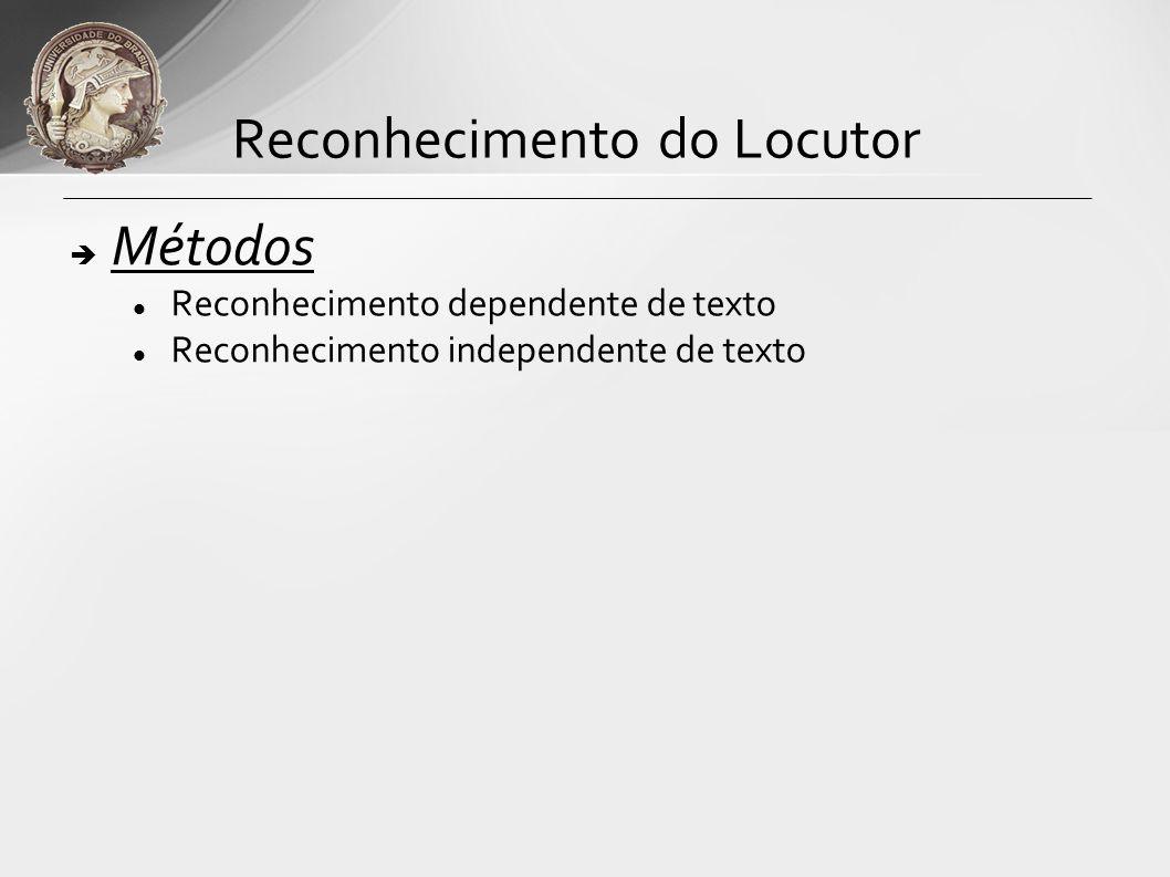 Configuração Típica Reconhecimento do Locutor BD PEDIDO DE ACESSO