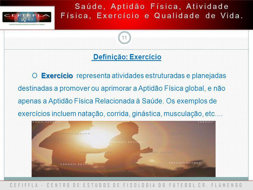 CEFIFFLA - CENTRO DE ESTUDOS DE FISOLOGIA DO FUTEBOL CR. FLAMENGO 11 Saúde, Aptidão Física, Atividade Física, Exercício e Qualidade de Vida. Definição