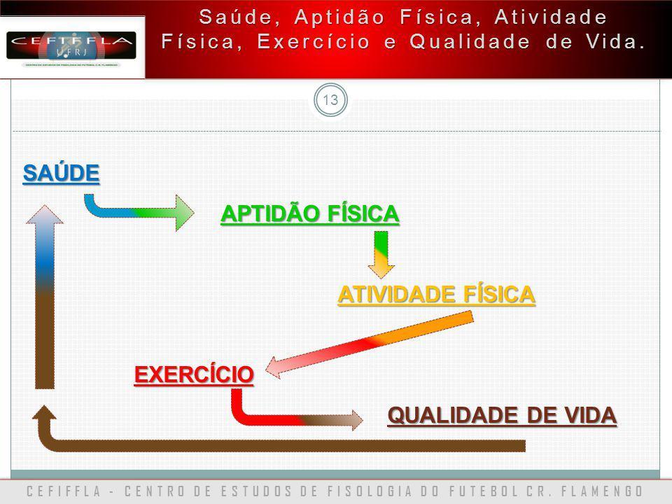 CEFIFFLA - CENTRO DE ESTUDOS DE FISOLOGIA DO FUTEBOL CR. FLAMENGO 13 Saúde, Aptidão Física, Atividade Física, Exercício e Qualidade de Vida. SAÚDE APT