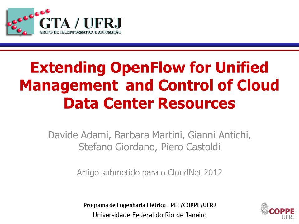 15 Programa de Engenharia Elétrica - PEE/COPPE/UFRJ Universidade Federal do Rio de Janeiro Extending OpenFlow for Unified Management and Control of Cl