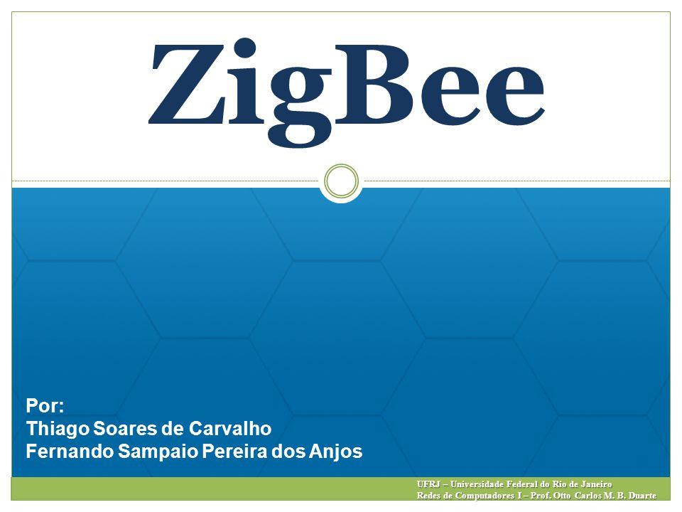 ZigBee Por: Thiago Soares de Carvalho Fernando Sampaio Pereira dos Anjos UFRJ – Universidade Federal do Rio de Janeiro Redes de Computadores I – Prof.