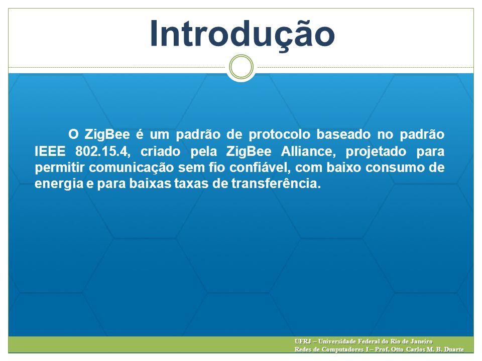Introdução UFRJ – Universidade Federal do Rio de Janeiro Redes de Computadores I – Prof. Otto Carlos M. B. Duarte