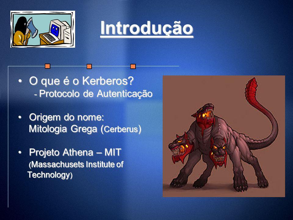 Introdução O que é o Kerberos?O que é o Kerberos? - Protocolo de Autenticação - Protocolo de Autenticação Origem do nome:Origem do nome: Mitologia Gre
