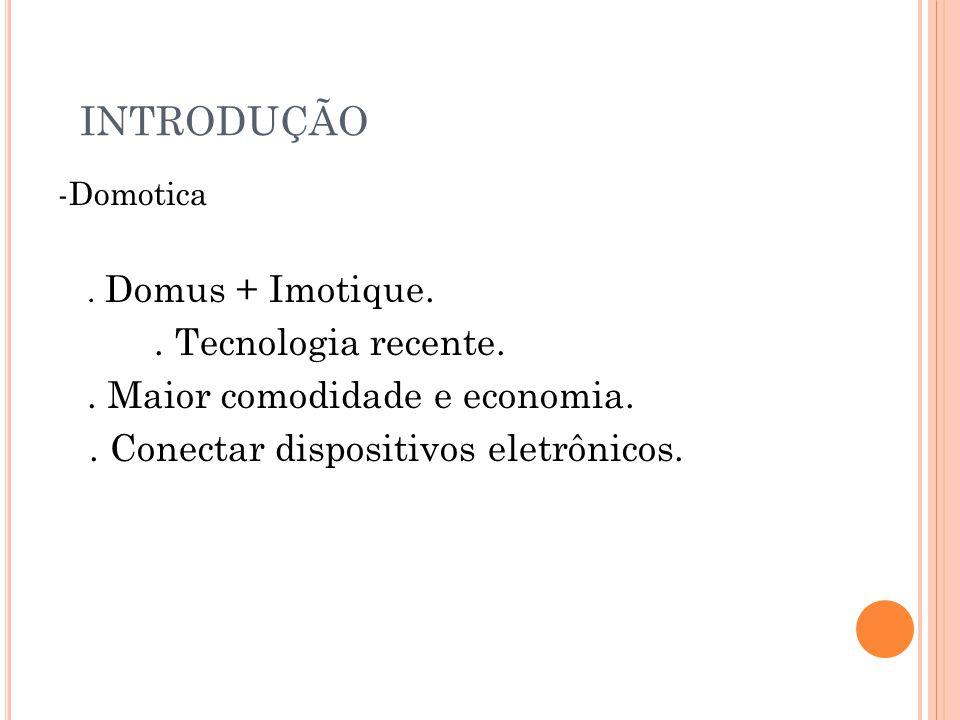 INTRODUÇÃO -Domotica.Domus + Imotique.. Tecnologia recente..