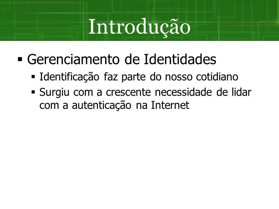 SGI Federado Acordo realizado entre os IdP Usuário não precisa lidar com diversas identidades e processos de autenticação Assim como no modelo Centralizado, os atributos dos usuários ficam sob o poder dos IdP