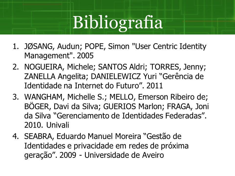 Bibliografia 1.JØSANG, Audun; POPE, Simon