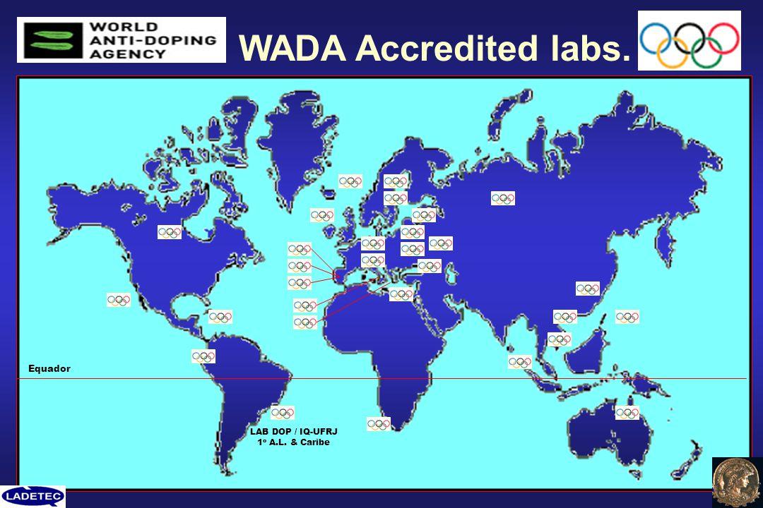 WADA Accredited labs. LAB DOP / IQ-UFRJ 1 o A.L. & Caribe Equador