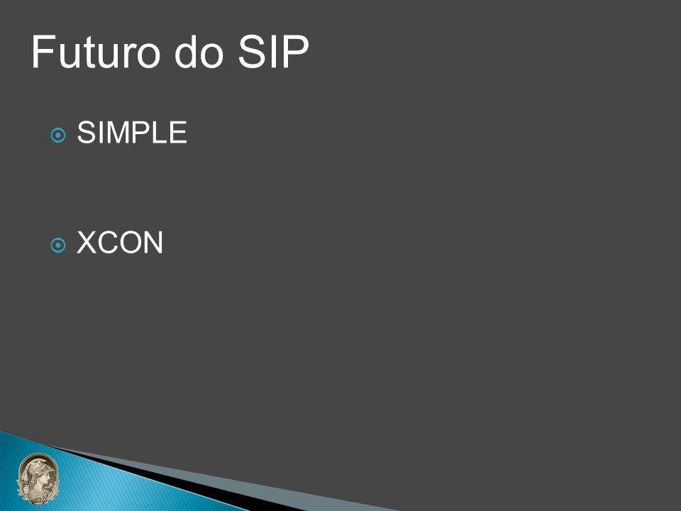 SIMPLE XCON Futuro do SIP