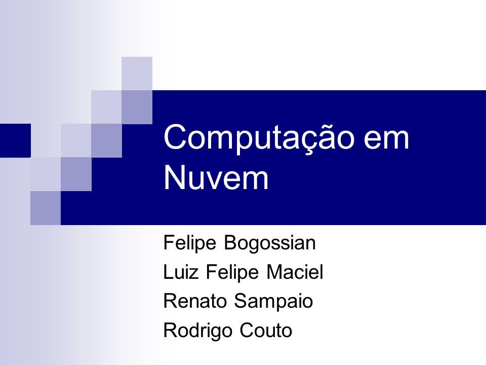 Computação em Nuvem Felipe Bogossian Luiz Felipe Maciel Renato Sampaio Rodrigo Couto