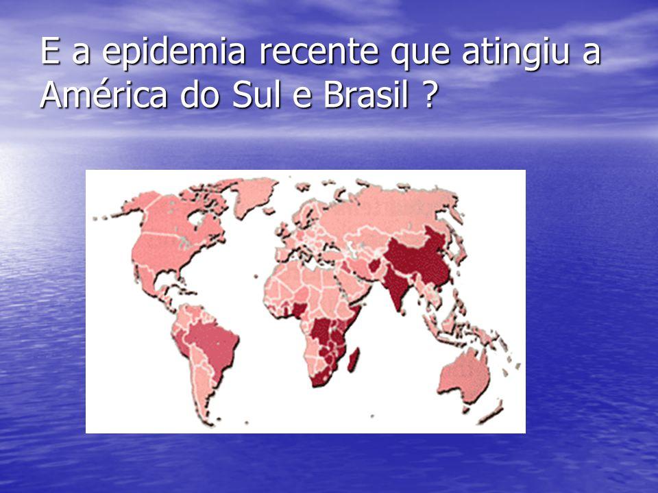 E a epidemia recente que atingiu a América do Sul e Brasil ?
