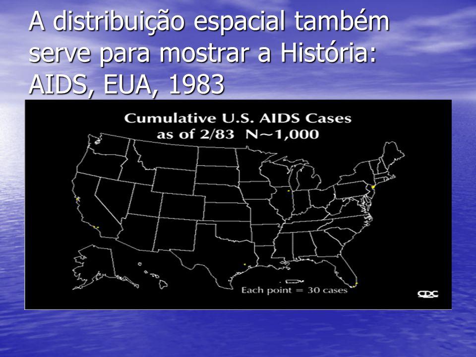 A distribuição espacial também serve para mostrar a História: AIDS, EUA, 1983 H2OH2O COB