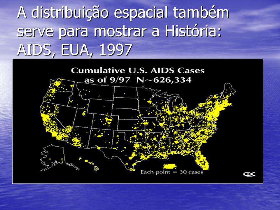 A distribuição espacial também serve para mostrar a História: AIDS, EUA, 1997 H2OH2O COB