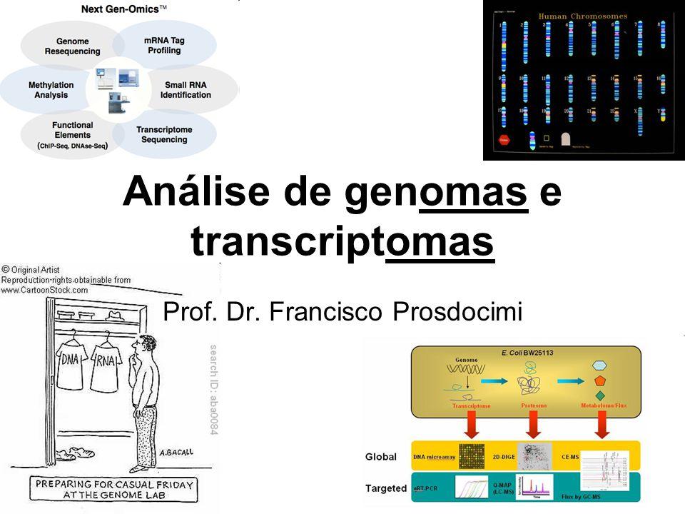 Análise de genomas e transcriptomas Prof. Dr. Francisco Prosdocimi