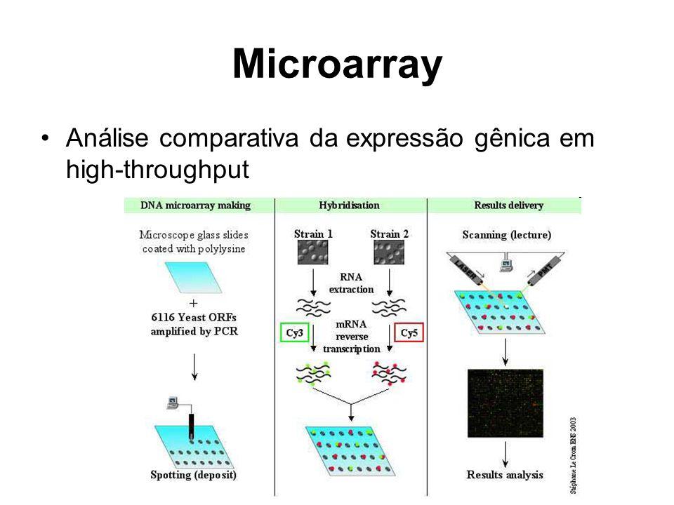 Microarray Análise comparativa da expressão gênica em high-throughput