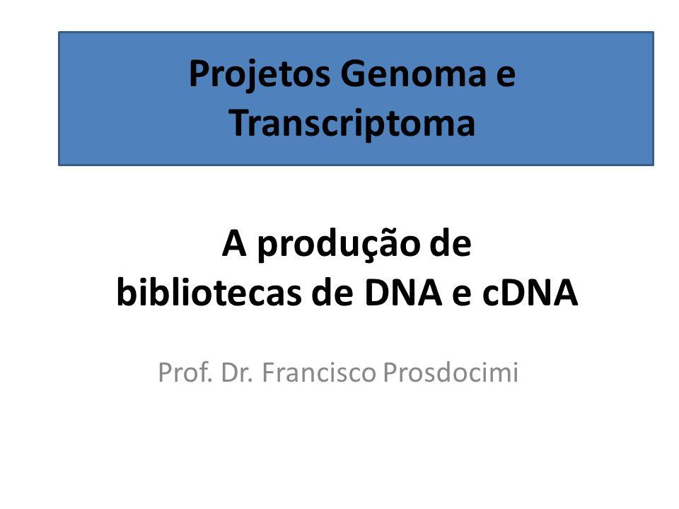 A produção de bibliotecas de DNA e cDNA Prof.Dr.