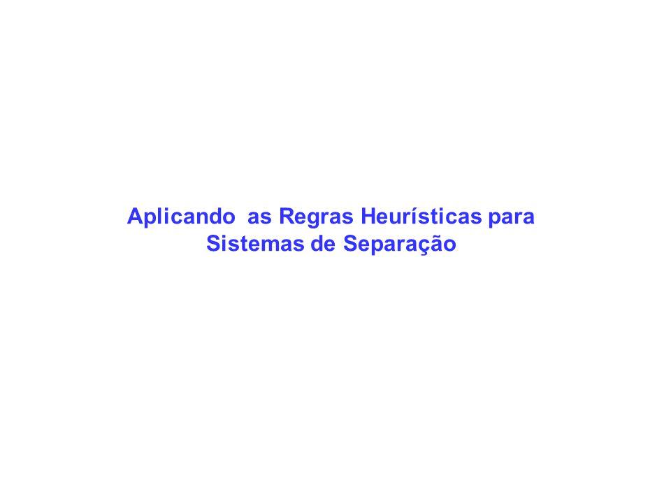 Aplicando as Regras Heurísticas para Sistemas de Separação