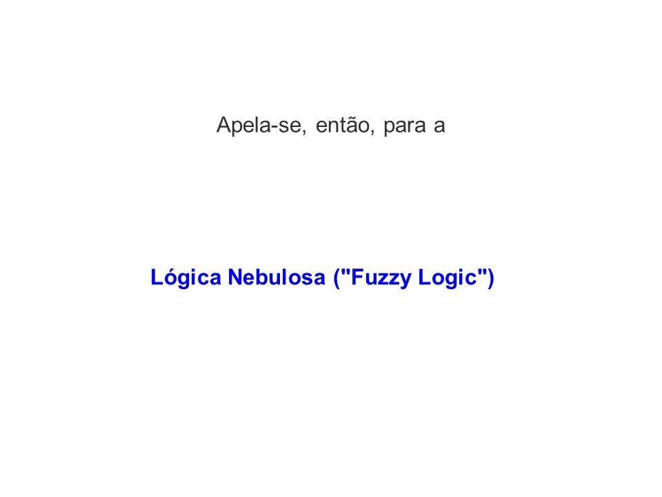 Apela-se, então, para a Lógica Nebulosa (