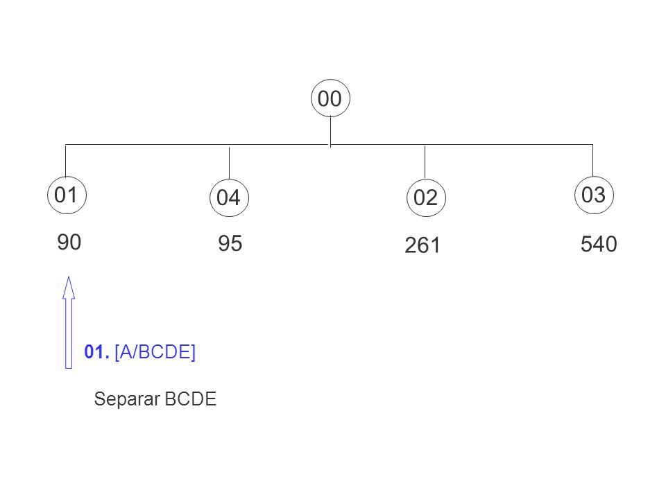 01030204 90 95 261 540 00 01. [A/BCDE] Separar BCDE