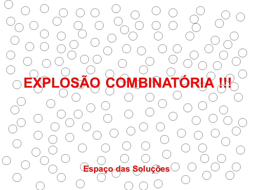EXPLOSÃO COMBINATÓRIA !!! Espaço das Soluções