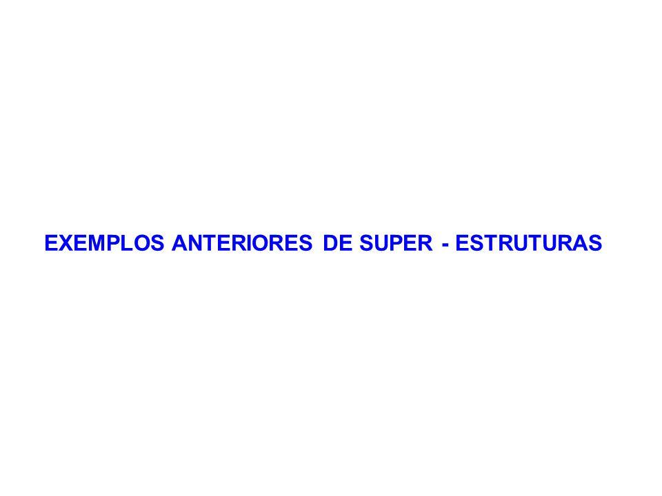 EXEMPLOS ANTERIORES DE SUPER - ESTRUTURAS