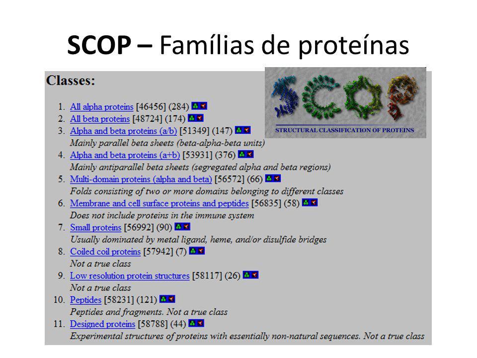SCOP – Famílias de proteínas