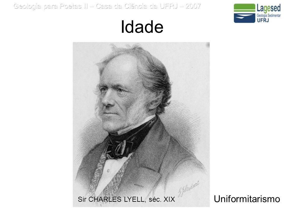 Idade Sir CHARLES LYELL, séc. XIX Uniformitarismo