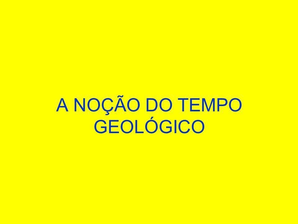A NOÇÃO DO TEMPO GEOLÓGICO