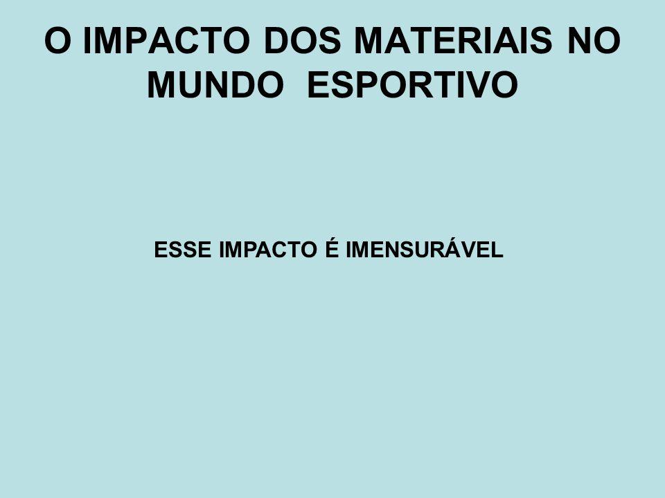 O IMPACTO DOS MATERIAIS NO MUNDO ESPORTIVO ESSE IMPACTO É IMENSURÁVEL