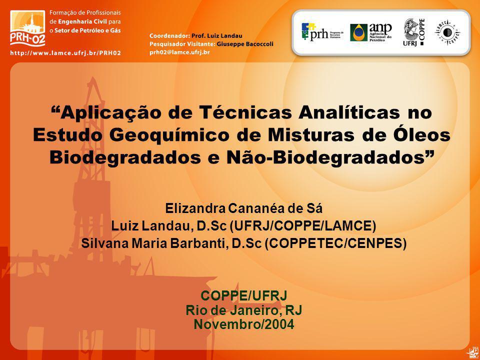Aplicação de Técnicas Analíticas no Estudo Geoquímico de Misturas de Óleos Biodegradados e Não-Biodegradados Elizandra Cananéa de Sá Luiz Landau, D.Sc
