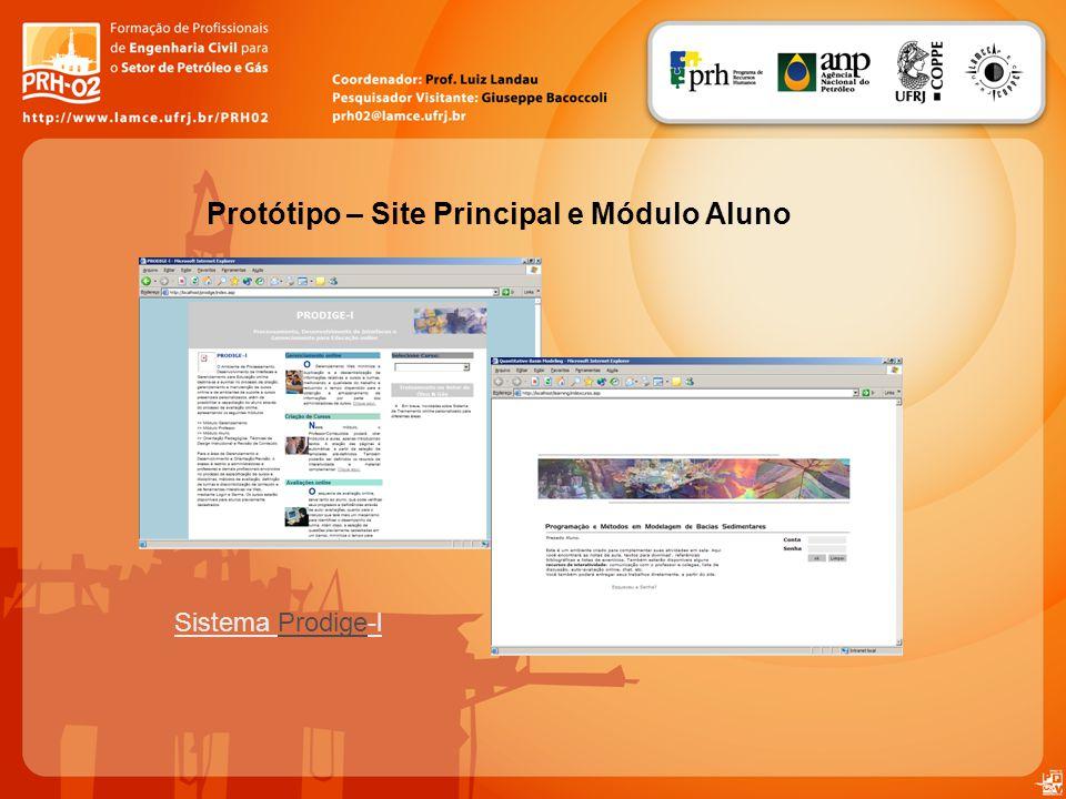 Sistema Prodige-lProdige Protótipo – Site Principal e Módulo Aluno