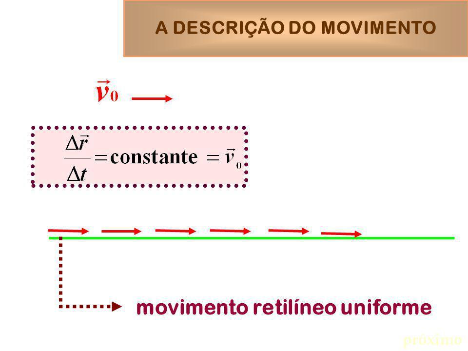 movimento retilíneo uniforme próximo