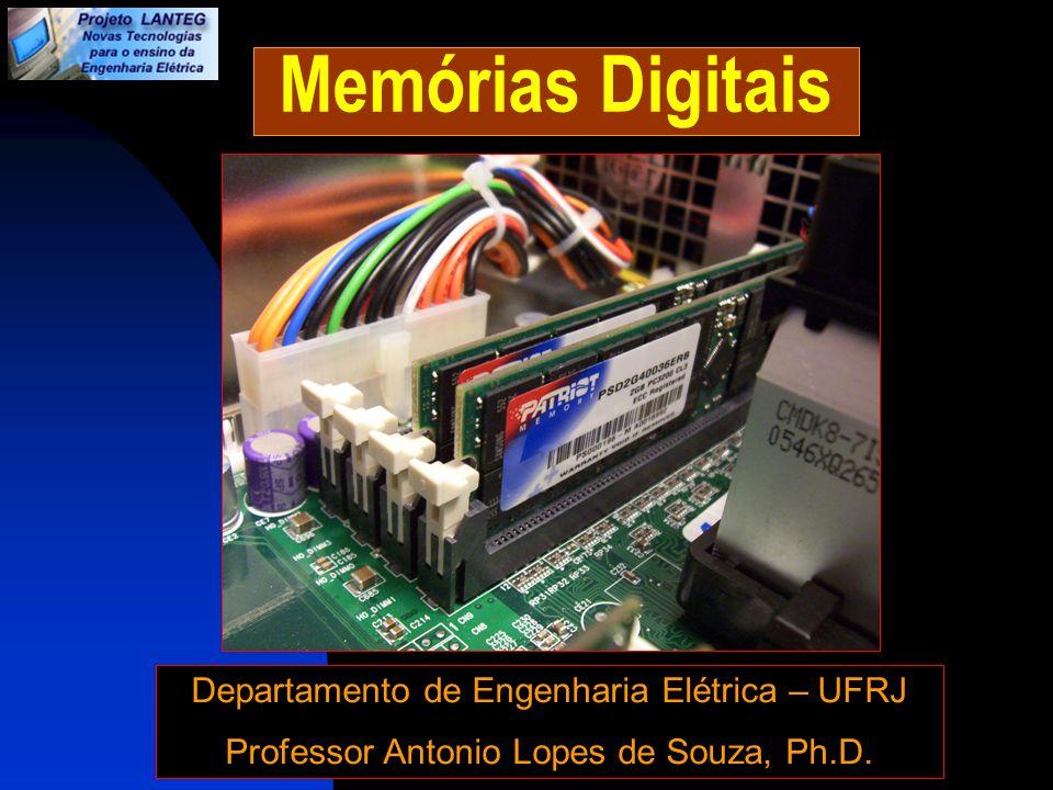 Memórias Digitais Memórias: São componentes responsáveis por armazenar dados e programas (instruções) em forma de sinais digitais (ou seja em forma de 0s e 1s).
