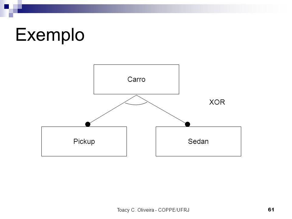 Toacy C. Oliveira - COPPE/UFRJ 61 Exemplo Carro PickupSedan XOR