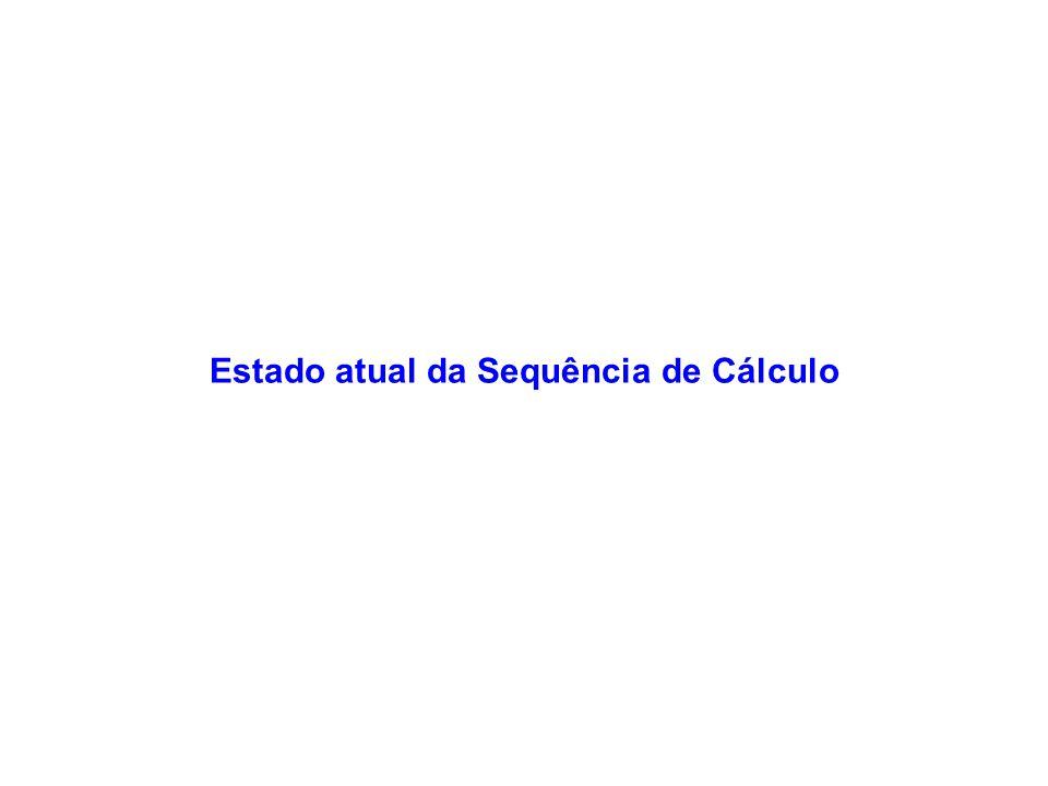 Estado atual da Sequência de Cálculo