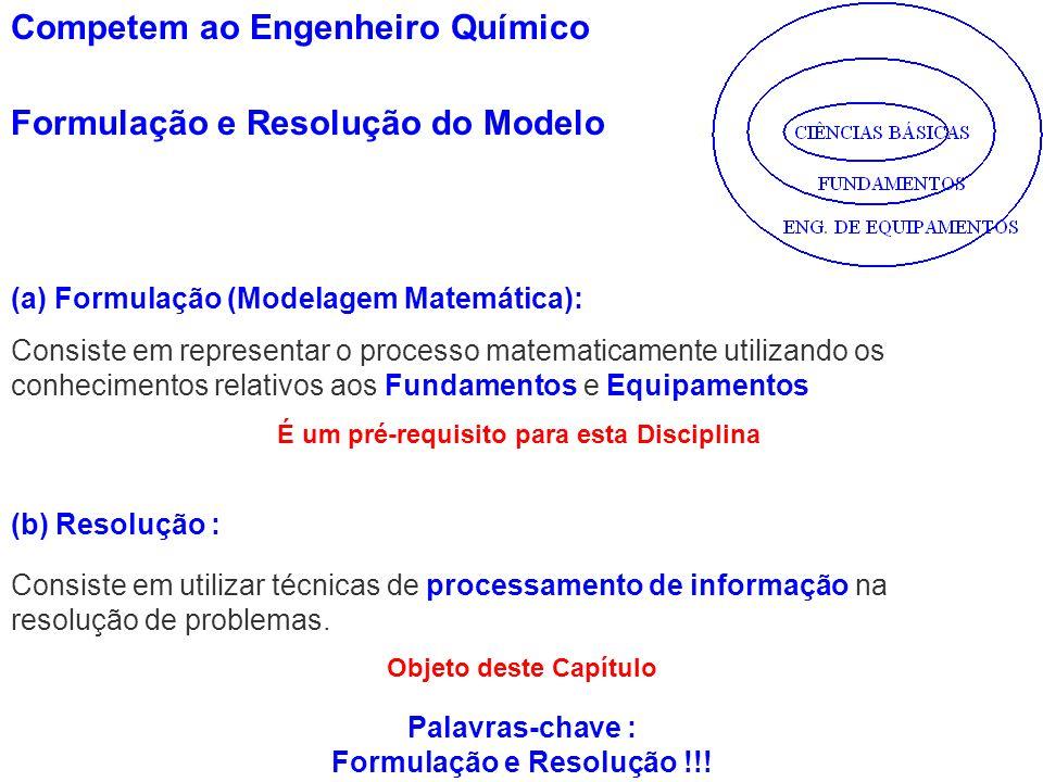 Consiste em representar o processo matematicamente utilizando os conhecimentos relativos aos Fundamentos e Equipamentos Consiste em utilizar técnicas
