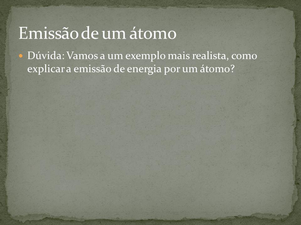 Dúvida: Vamos a um exemplo mais realista, como explicar a emissão de energia por um átomo?