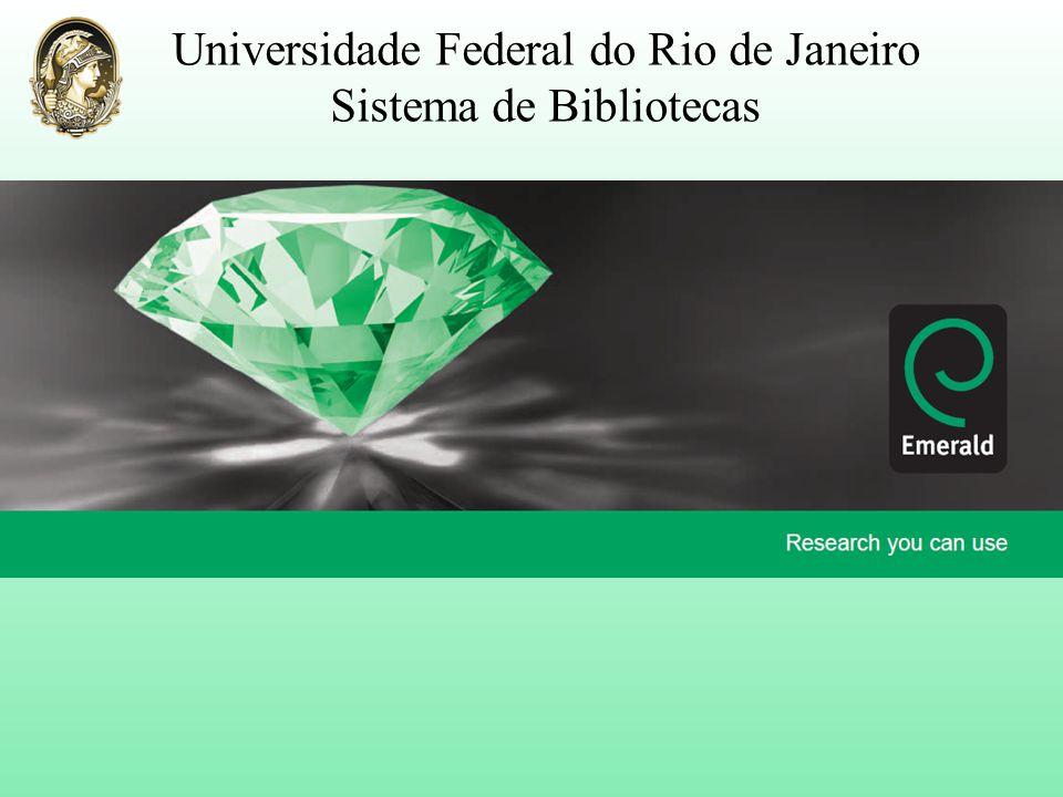 Universidade Federal do Rio de Janeiro Sistema de Bibliotecas
