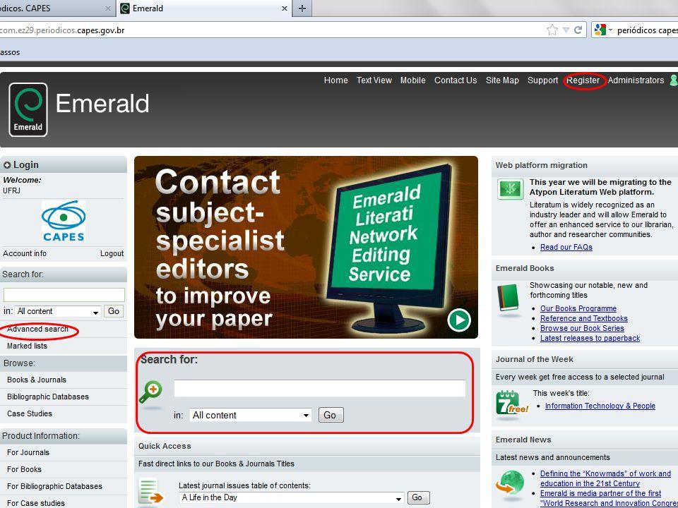 Para acessar pesquisas salvas e gerenciar favoritos vá em your profile.