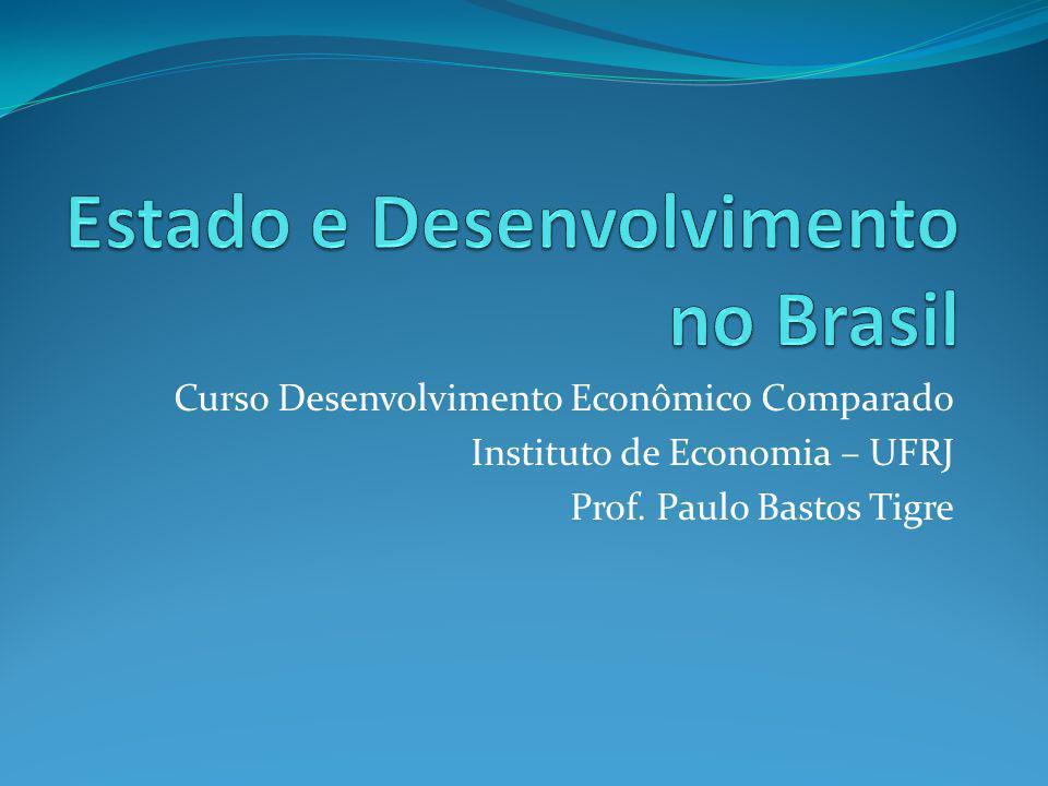 Curso Desenvolvimento Econômico Comparado Instituto de Economia – UFRJ Prof. Paulo Bastos Tigre