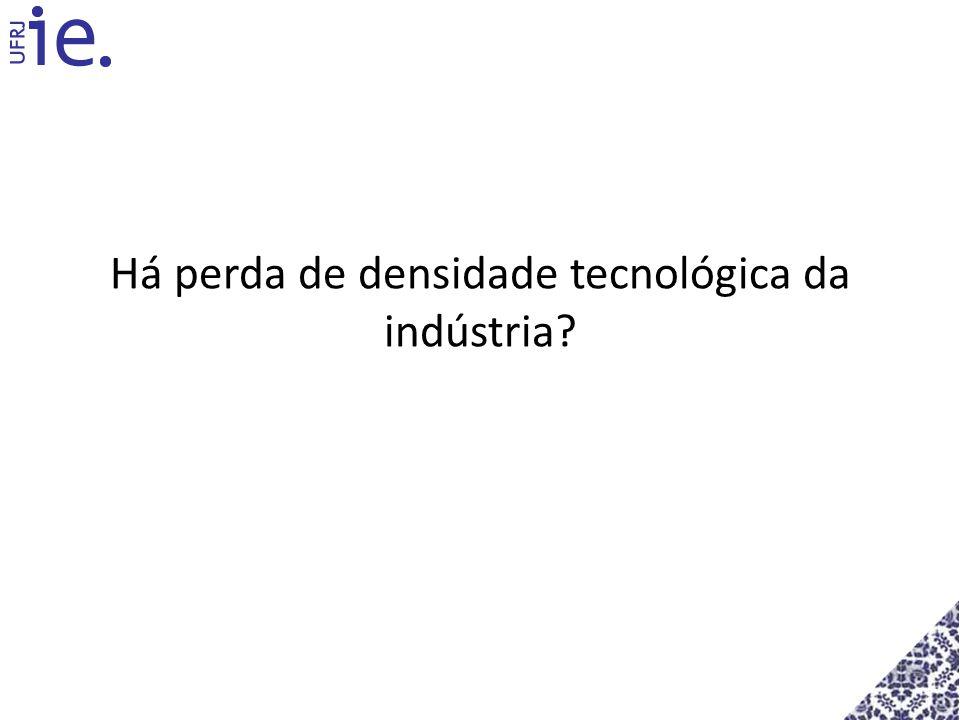 Há perda de densidade tecnológica da indústria?