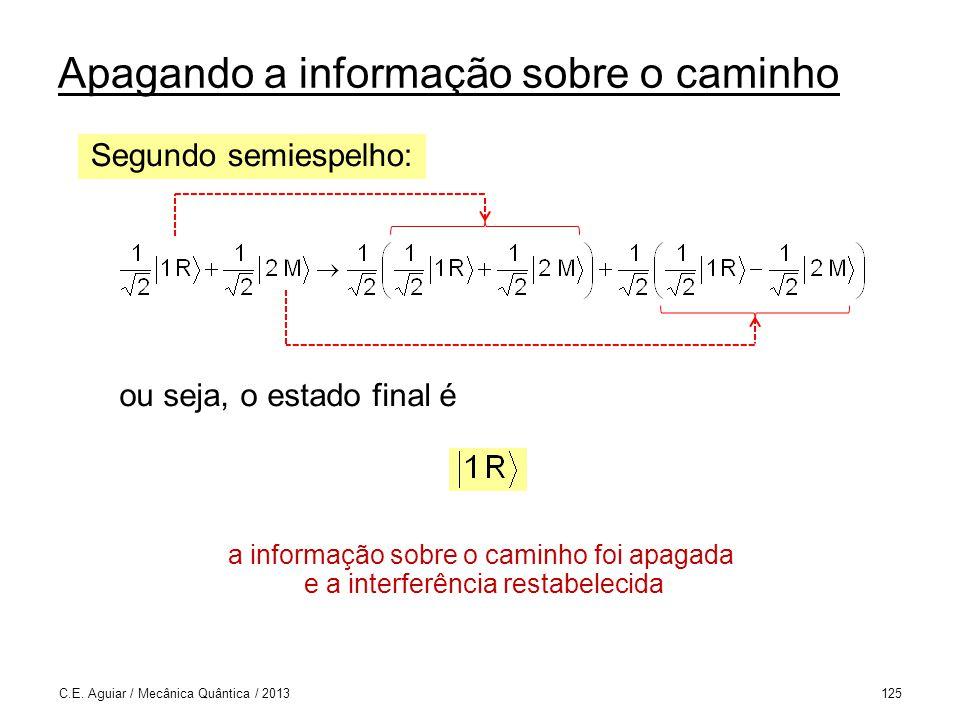Apagando a informação sobre o caminho C.E.