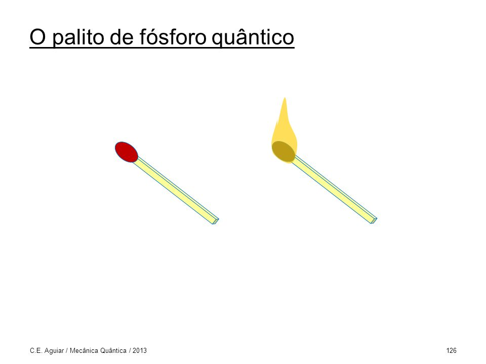O palito de fósforo quântico C.E. Aguiar / Mecânica Quântica / 2013126