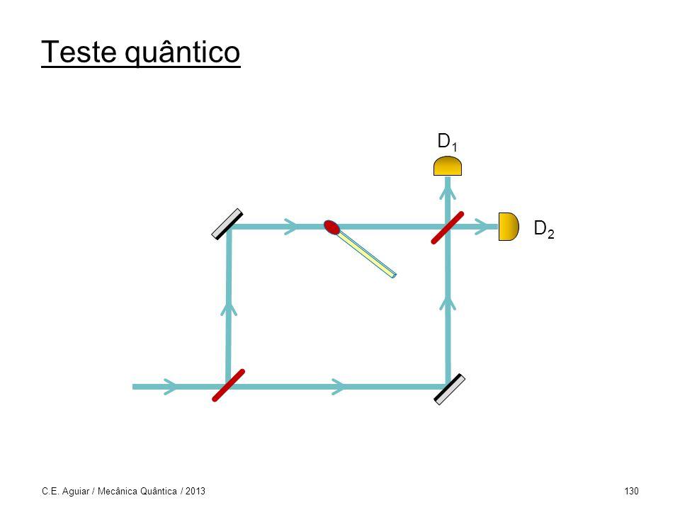 Teste quântico C.E. Aguiar / Mecânica Quântica / 2013130 D1D1 D2D2
