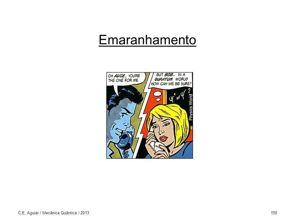 Emaranhamento C.E. Aguiar / Mecânica Quântica / 2013150