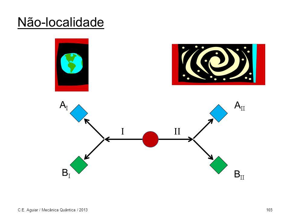 Não-localidade C.E. Aguiar / Mecânica Quântica / 2013165 III AIAI A II B II BIBI